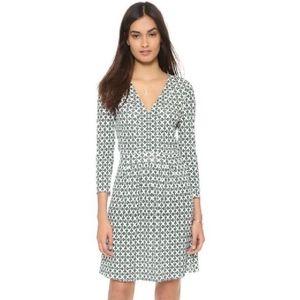 Tory Burch Jersey Knit Chain Print V-Neck Dress
